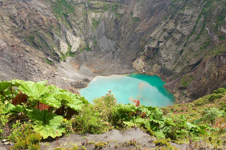 Crater of the Irazu active volcano situated in the Cordillera Central close to the city of Cartago, Costa Rica.