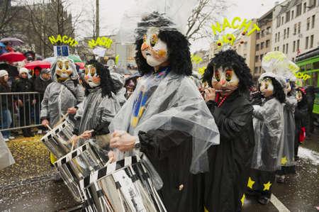 Basel, Switzerland, March 02, 2009 - People take part in Basel Carnival in Basel, Switzerland.
