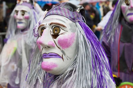 Basel, Switzerland, March 02, 2009 - People take part in Basel Carnival in Basel, Switzerland.