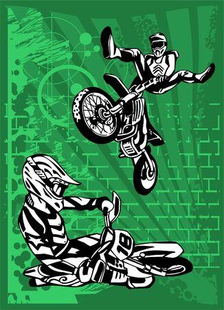 Illustration pour Motorbike.  Illustration.Vinyl Ready. - image libre de droit