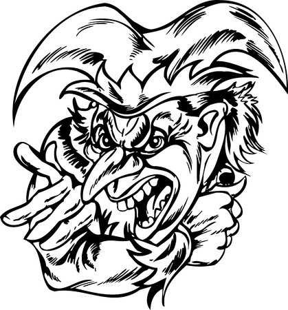 Scary Clowns.Vector illustration ready for vinyl cutting.