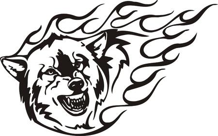 Illustration pour Tribal Predators.Vector illustration ready for vinyl cutting. - image libre de droit