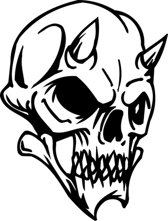 Skull - Halloween Set - vector illustration