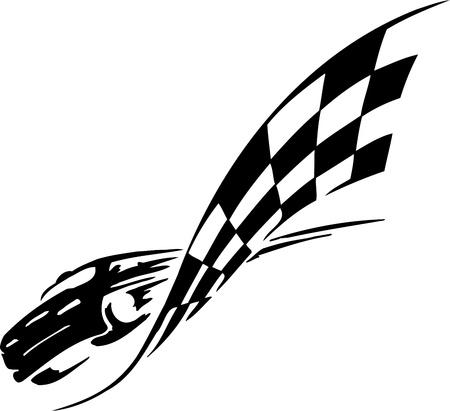 Illustration pour Checkered flag - symbol racing - image libre de droit