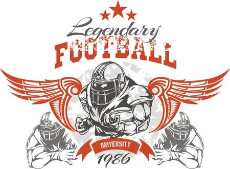 American football - Vintage vector print for boy sportswear