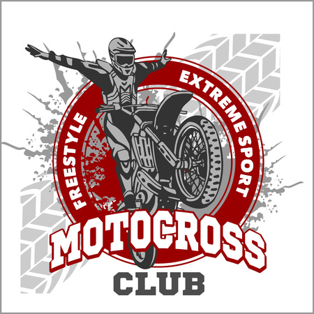 Motocross sport - vector emblem for t-shirts