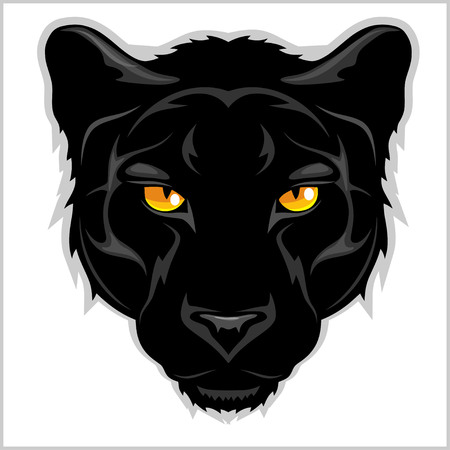 Ilustración de Black Panther head - isolated on white background. - Imagen libre de derechos