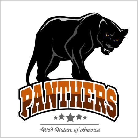 Illustration pour Panthers mascot - vector illustration - image libre de droit