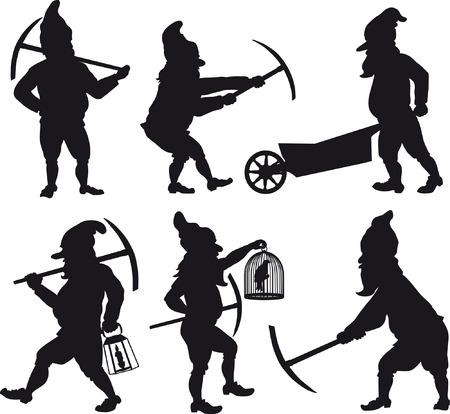 Gnomes silhouettes set 1