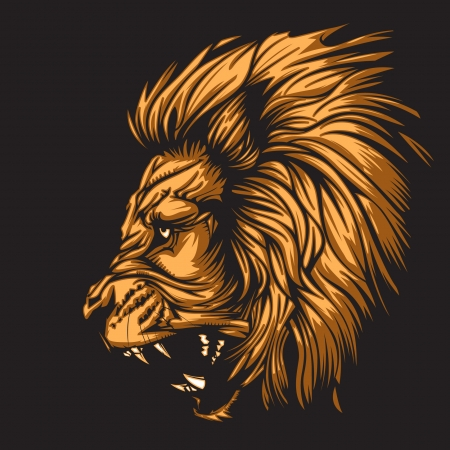 Lion representing Leo zodiac sign or just a sharp vector graphic for general use  Layered and easy to edit