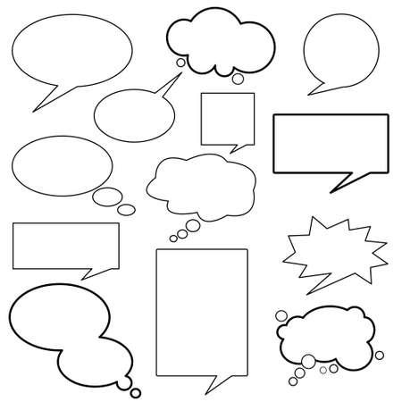 Illustration pour dialog, balloons - image libre de droit