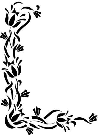 floral decorative ornament frame