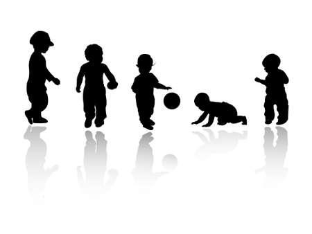silhouettes - children
