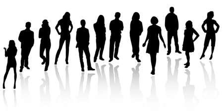 Illustration pour Silhouettes of business people - image libre de droit
