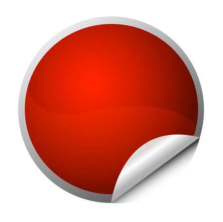 Illustration pour red sticker - postit - image libre de droit