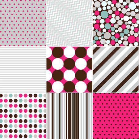 Ilustración de seamless patterns with fabric texture - Imagen libre de derechos