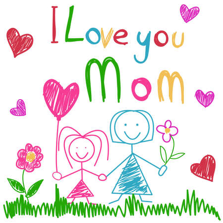 Illustration for Mother's day. - Royalty Free Image