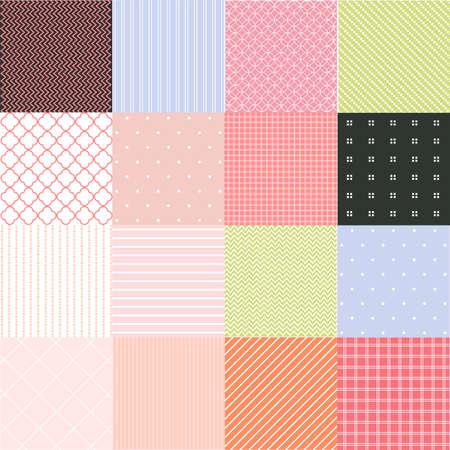 Photo pour Seamless patterns with fabric texture - image libre de droit