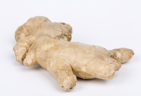 Ginger root isolated on white background.
