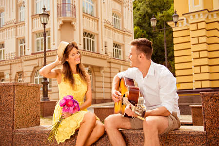 Photo for Happy couple in love dating - Royalty Free Image