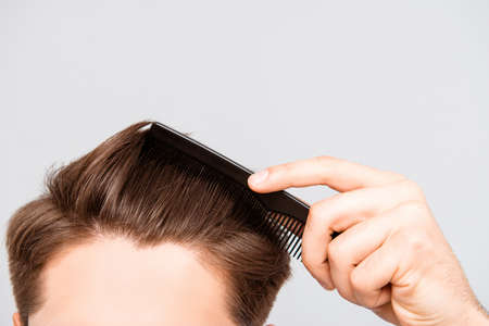 Photo for Close up photo of clean healthy man's hair without furfur - Royalty Free Image