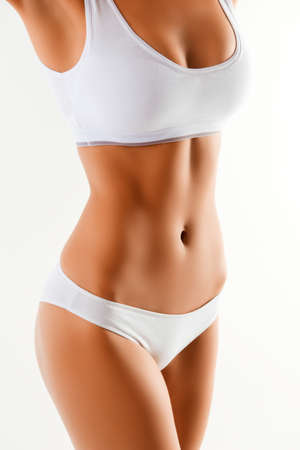 Photo for Close up portrait of healthy fit slim woman's body - Royalty Free Image