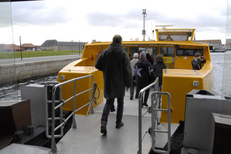 DENMARK / COPENHAGEN _  Habor transportation danish public transport system link Holmen island and main city of Copenhagen if sone one has tikcet of train bus or metro can be use with habor transportations system which is owned by main transportation syst