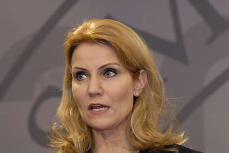 DENMARK / COPENHAGEN _Ms.Helle Thorning_Schmidt, dqnish first female prime minister holds Danish presidency of the council of the European Union Commission holds  her weekly press meeting at Christiansborg Mirrior Hall priem minister office building today