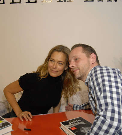 COPENHAGEN/DENMARK_ Danish Ex-super model or former fashion super model Ms.Renne Toft Simonsen and very secessful author and writer at her biography boo signing ceremonat atBorgorum anih book fair 2014 at Bella Cneter today on sunday last day of book fair
