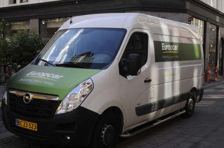 Copenhagen /Denmark - 17.jULY  2017.    Europcar  van .   moveing your way