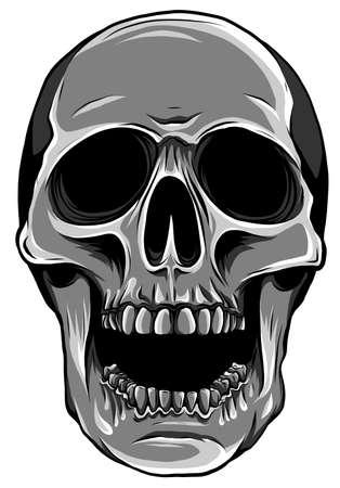 Illustration pour monochromatic Realistic red skull. vector Illustration for designer on a white background. - image libre de droit
