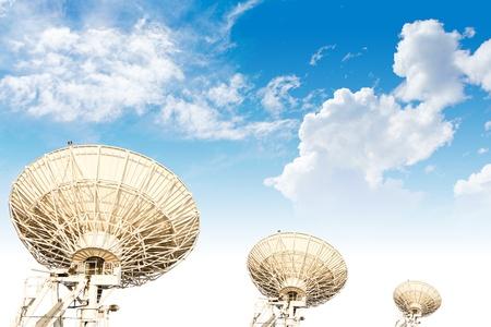 large three satellite dish