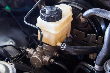 brake fluid reservoir and brake master cylinder