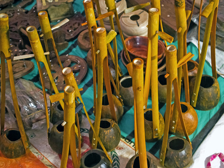 The traditional music instrument from West Bengal, India and Bangladesh called ektara specificcally used during baul song.