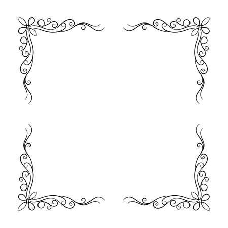 Illustration pour Decorative vintage frame on white background. Vector illustration - image libre de droit