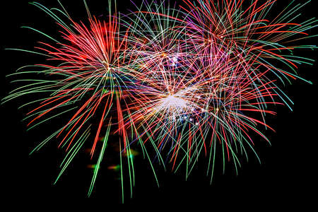 spectacular night with colorful fireworks to celebrate the arrival of the New Year