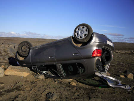 Car accident jusr off the Ring Road Iceland