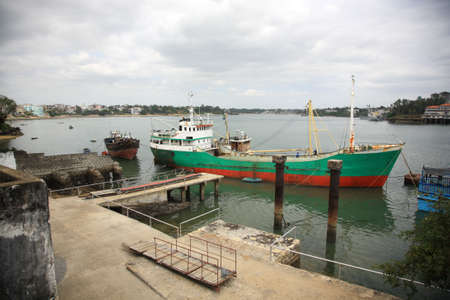 Mombasa old town harbour in Kenya Africa