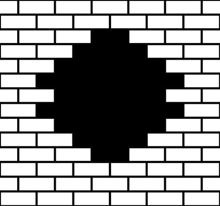 Illustration for Illustration of a hole in a brick wall - Royalty Free Image