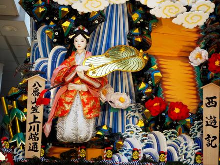 Hakata Gion Yamakasa Festival Kawabata street in Fukuoka