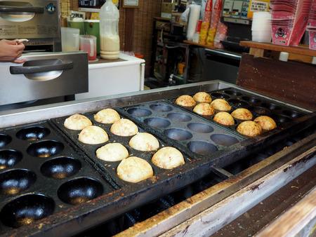 Big Takoyaki food of Japan, yufuin