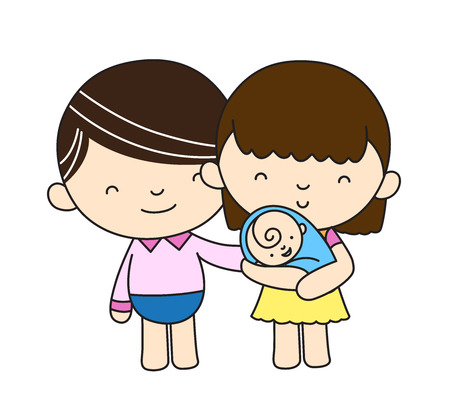 pregnant woman character vector design, Happy mother, doing