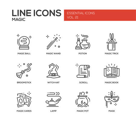 Set of modern vector simple line design icons and pictograms