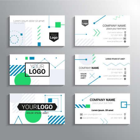 Photo pour Set of business cards - vector template abstract background - image libre de droit