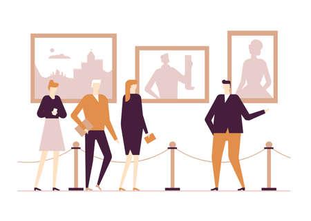 Illustration pour Cultural life - flat design style colorful illustration - image libre de droit