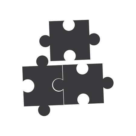 Illustration pour Game Puzzle vector Icon Design Illustration - image libre de droit