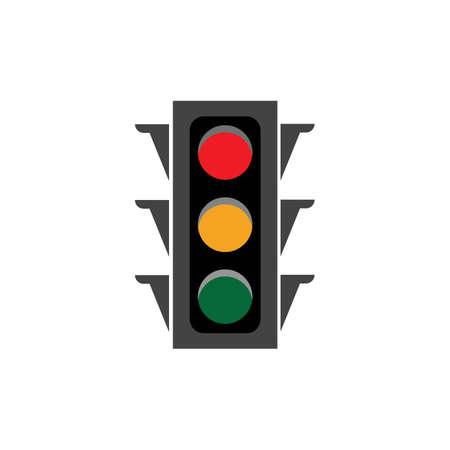 Illustration for Traffic Light Icon Vector Design Template Traffic light signal - Vector icon - Royalty Free Image