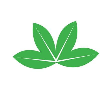 Illustration for green leaf logo vector - Royalty Free Image