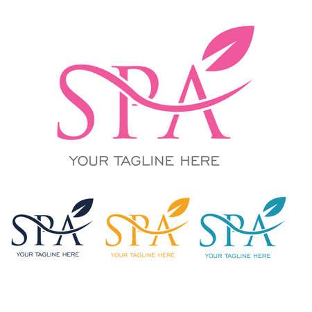 Illustration pour spa logo vector illustration design template - image libre de droit