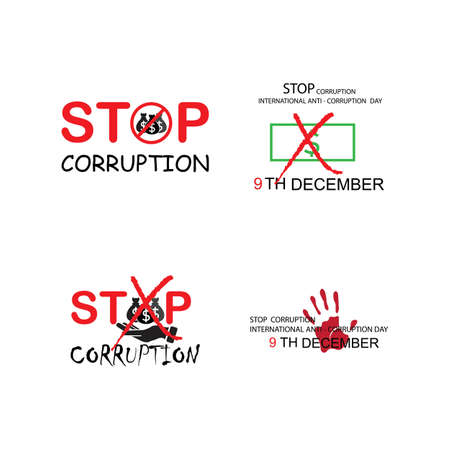 Illustration for Stop Corruption and International Anti-Corruption Day - Royalty Free Image